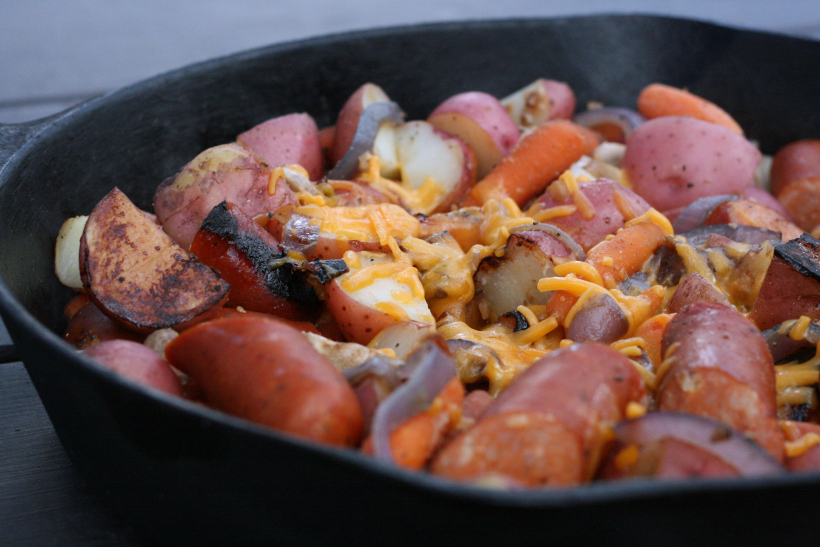 One Pan Sausage Skillet Dinner | doughseedough.net