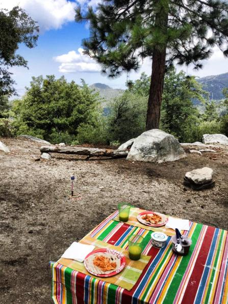Easy camping breakfasts, camping meals, Marion Mountain, Idyllwild, CA