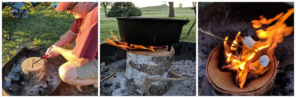 Light n' Go Bonfire Log. Camping Shortcuts