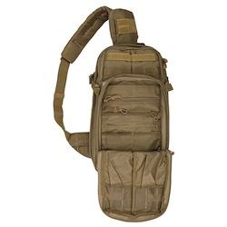 showing off pockets of Rush Moab Go-Bag