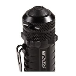 close up view of the ATAC A2 flashlight